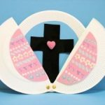 Easter plate with cross easter crafts